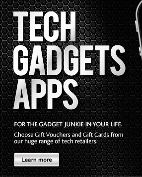 Tech, Gadgets, Apps Gift Vouchers and Gift Cards