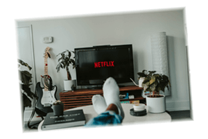 Watch favourite movies or TV series on Netflix