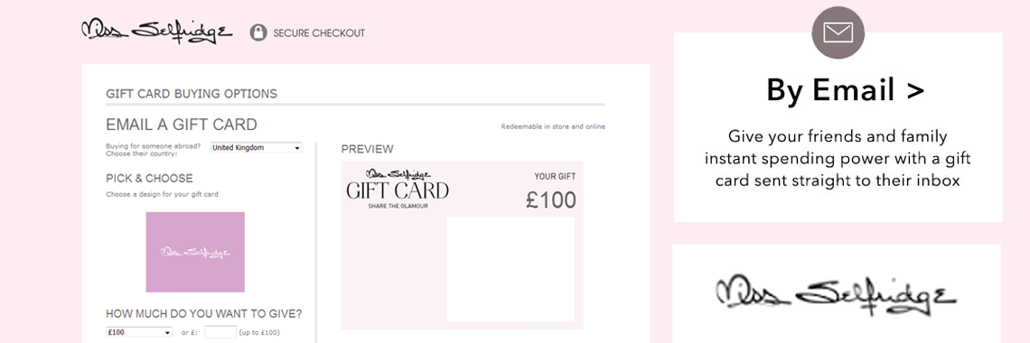 e-vouchers, digital gifting & electronic Gift Cards
