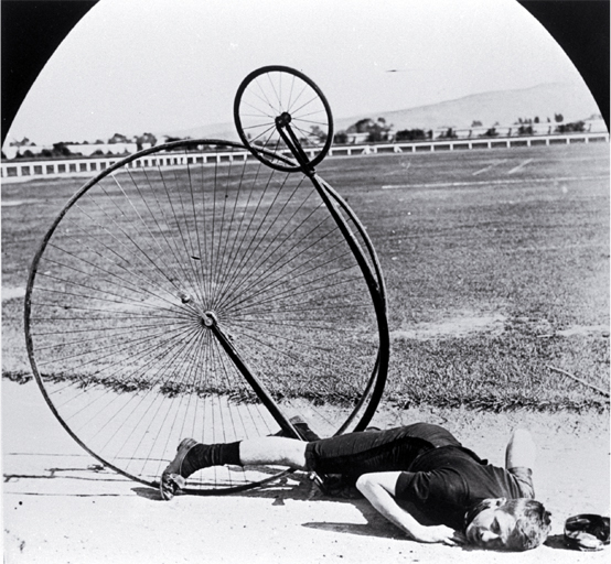 penny farthing bicycle accident