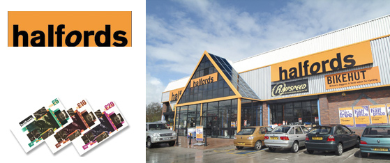 Halfords Gift Vouchers
