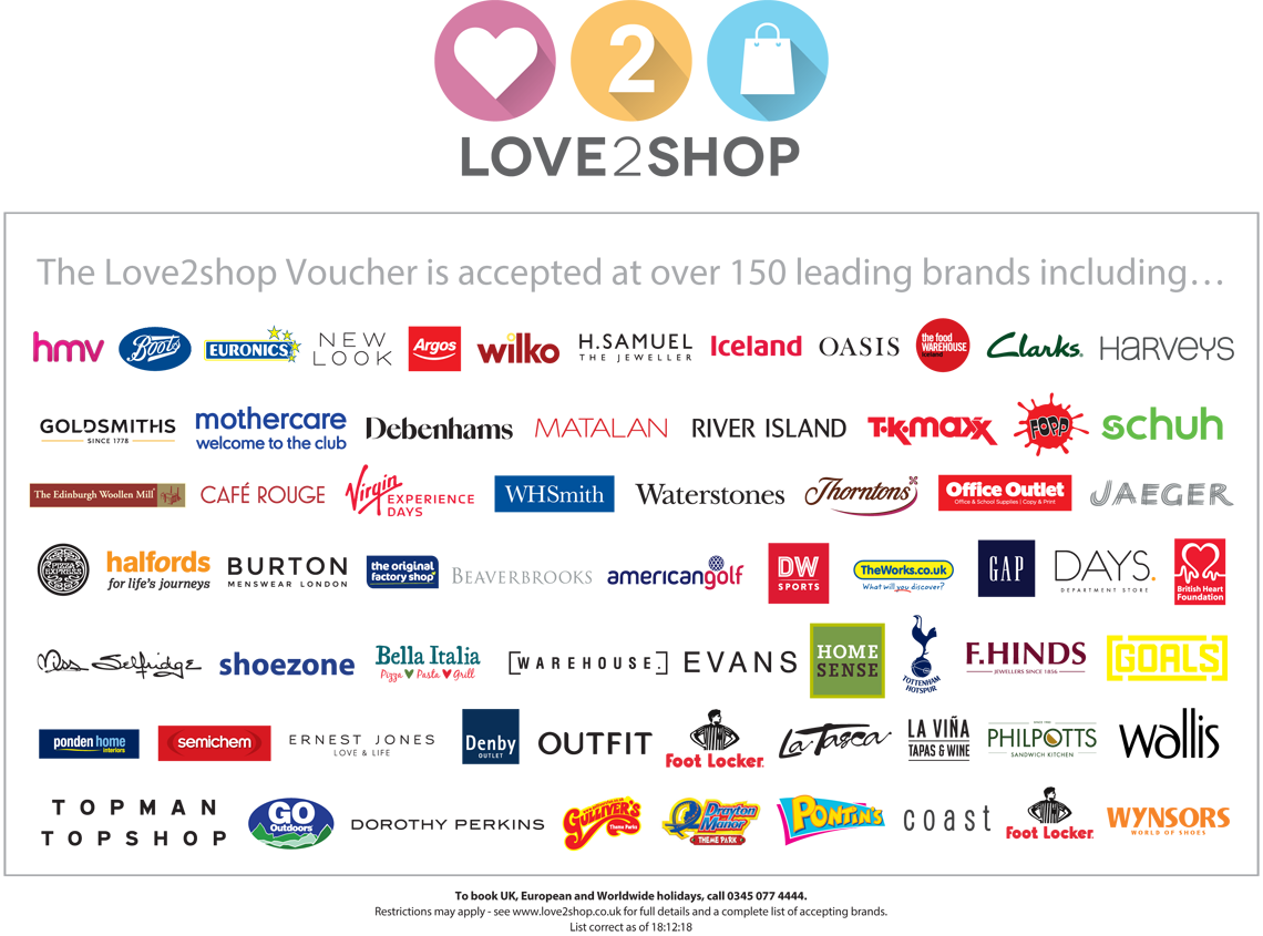 Love3Shop - Gift Vouchers  Voucher Express