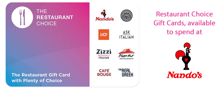 Nando's Gift Cards Powered by Restaurant Choice