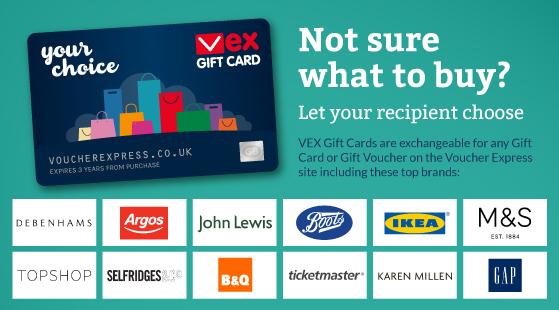 VEX Gift Card - Gift Vouchers | Voucher Express