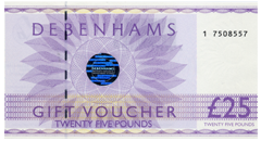 Debenhams Gift Vouchers